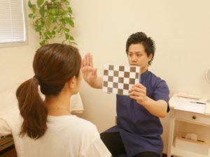 市松模様を使った視神経の検査